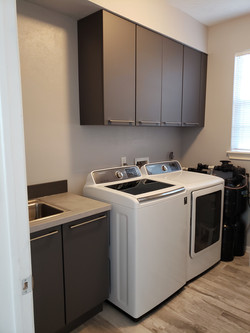 cabinets for laundry room & kitchens