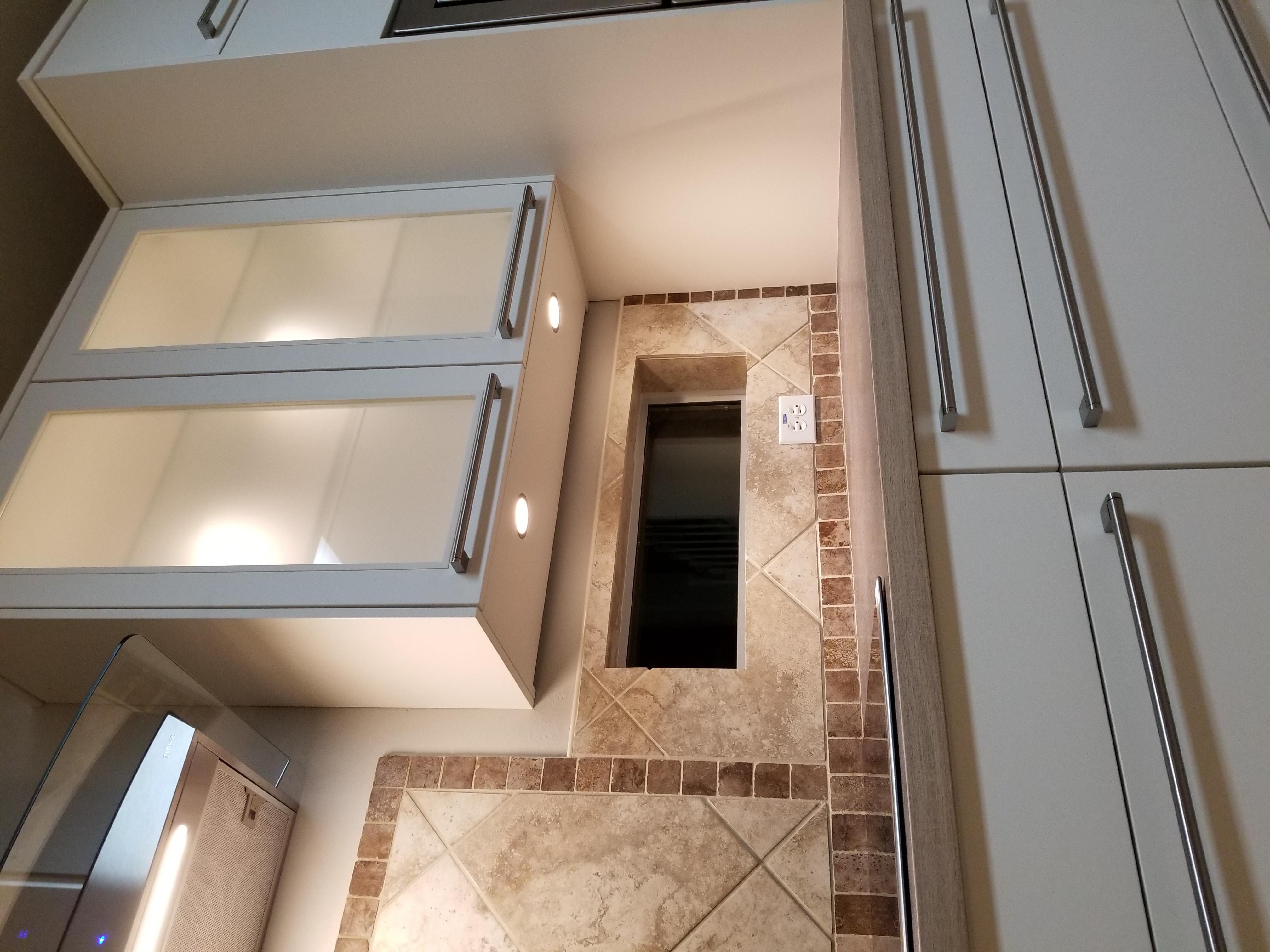 Modern kitchen with LED spot lights