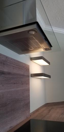 lighting shelves for modern kitchen