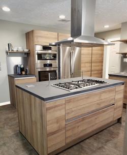 modern kitchen cabinets in oak