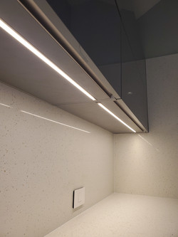 Cabinets with integrated lighting