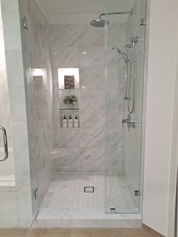 Shower Remodel Project from Europa Remodeling