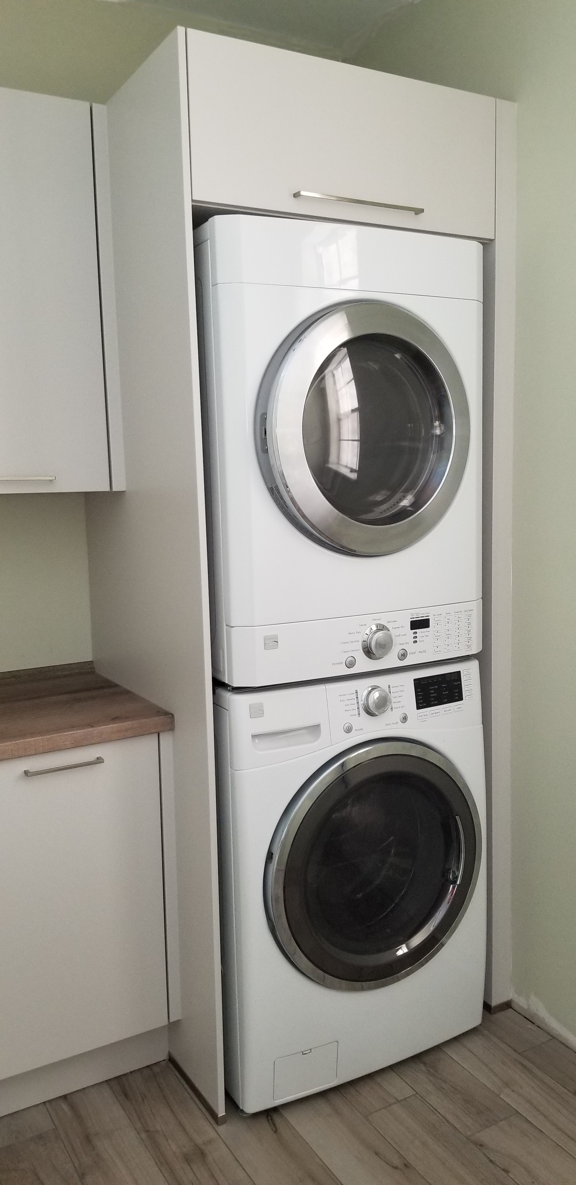 cabinets for laundry room & kitchen