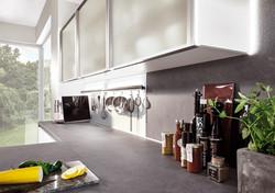 modern stylish kitchen in white
