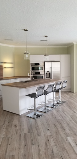Kitchen and laundry room cabinets
