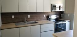 Modern handleless matt kitchen Katy