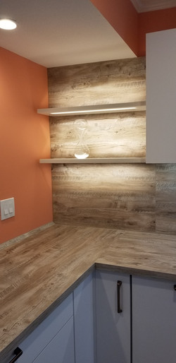 lighted wall shelves for kitchens