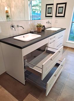 Vanities with Storage Drawers