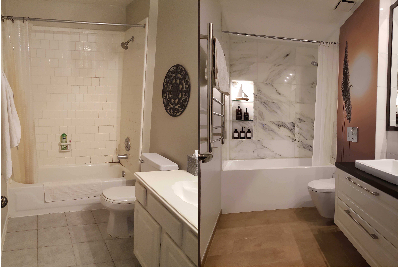 beautiful bathroom remodel Katy