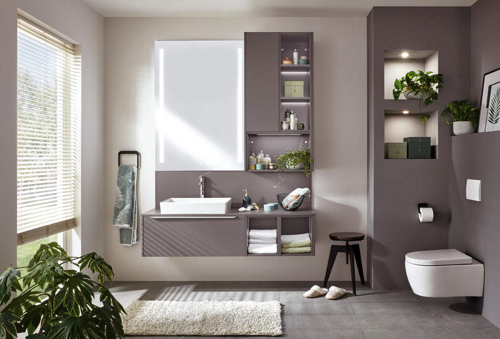 floating cabinets for your bathroom project in Katy and Houston by Europa Remodeling