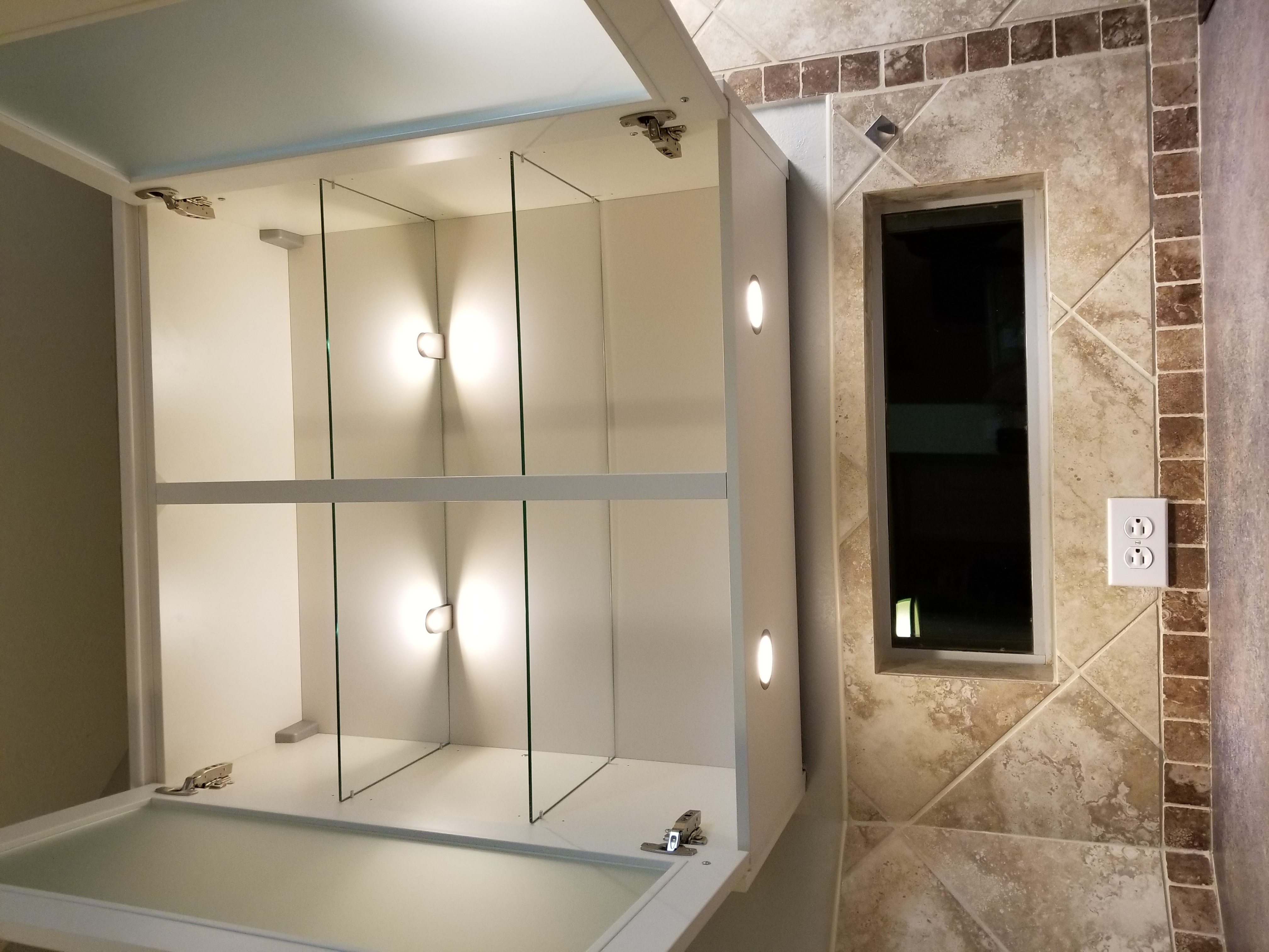 Glass shelves at Europa Remodeling
