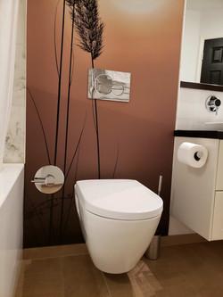 bath renovation with bidet toilet