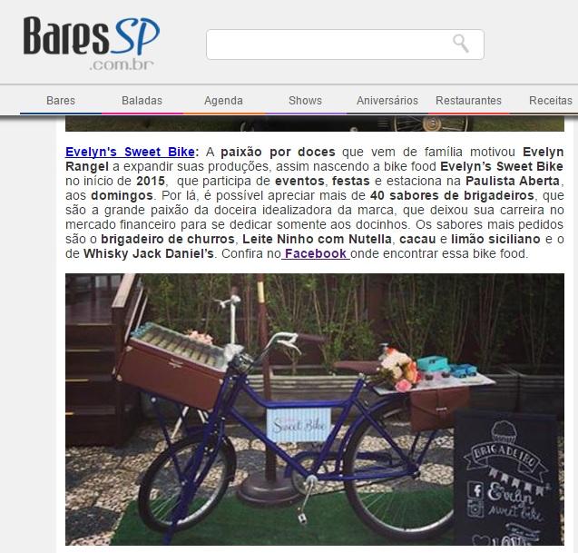 Indicação Melhores Foodbikes de Doce