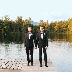 This Couple's Refined Wedding in Upstate New York Featured Camp-Inspired Touches (Martha Stewart Weddings)