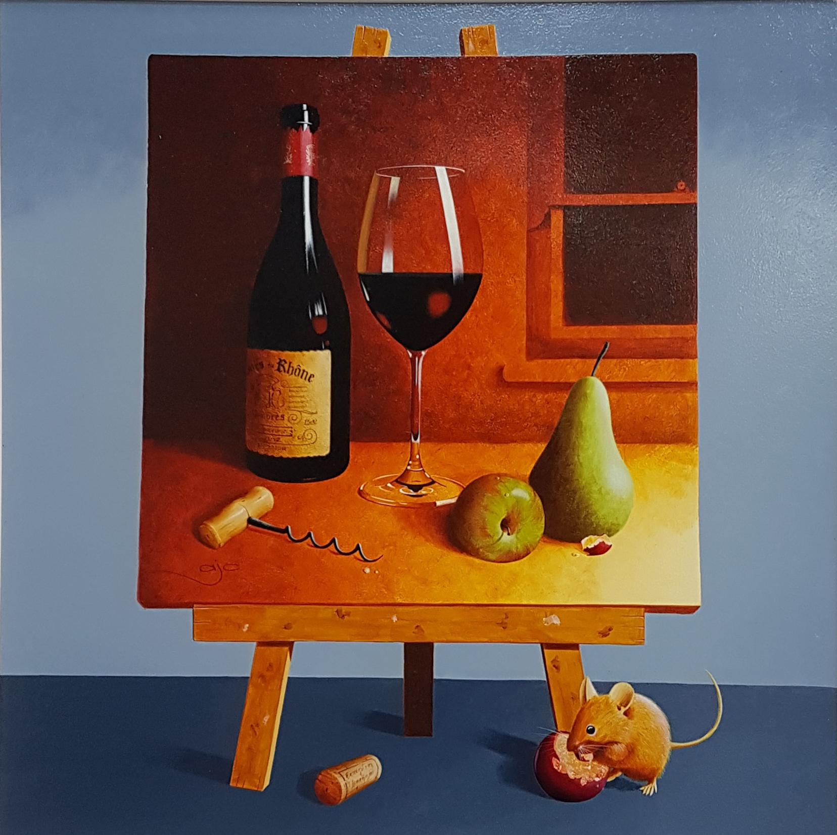 Wine, Pears and Mouse