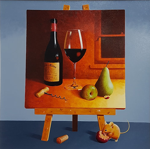 Wine, Pears and Mouse by AJ Callan