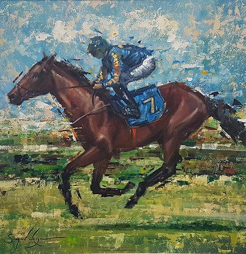 Horse and Jockey by Simon Wright