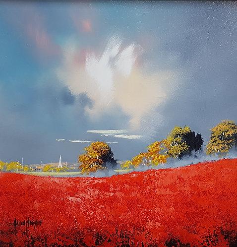 Poppy Landscape by Allan Morgan