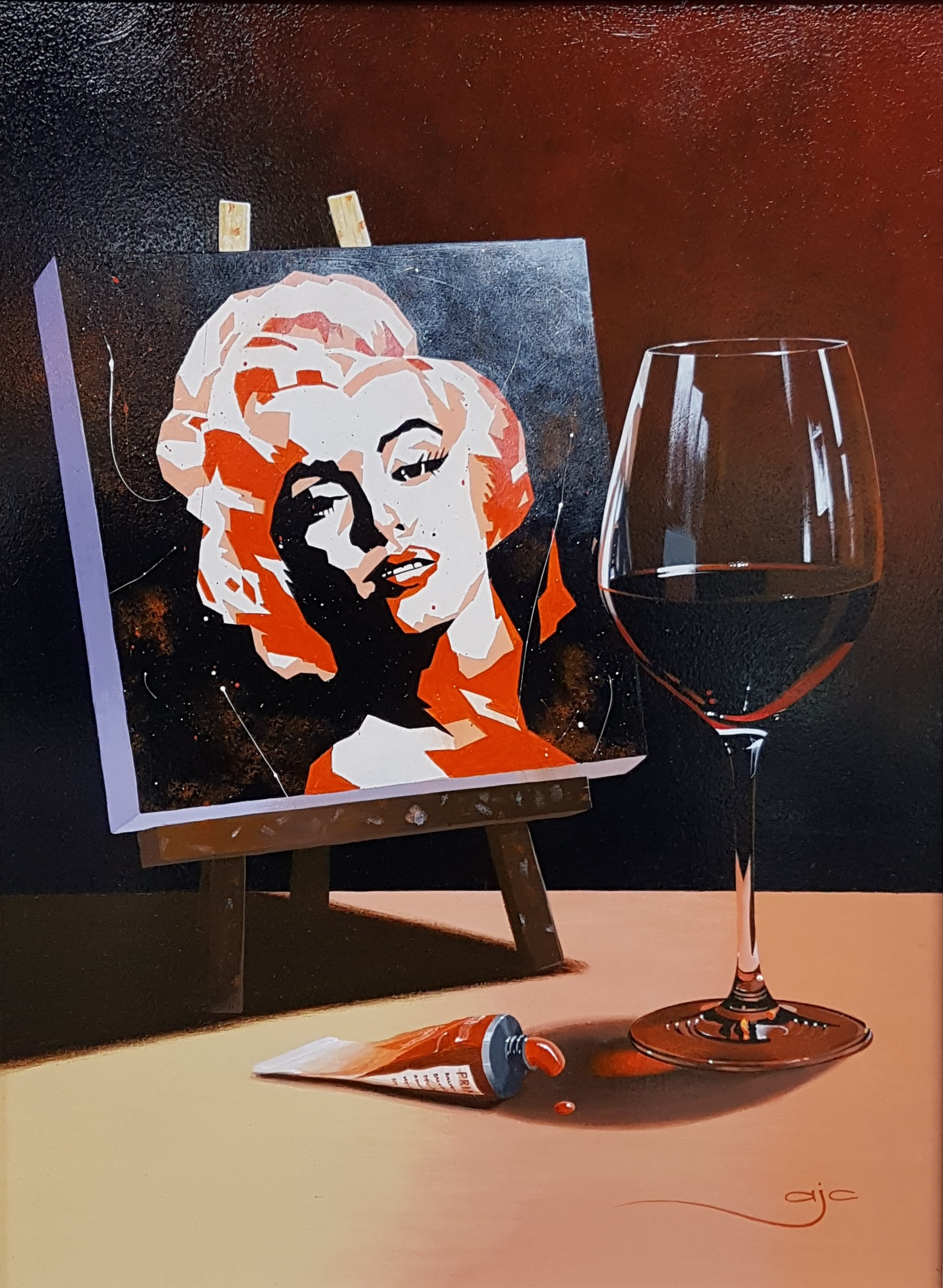 Still Life with Marilyn Monroe