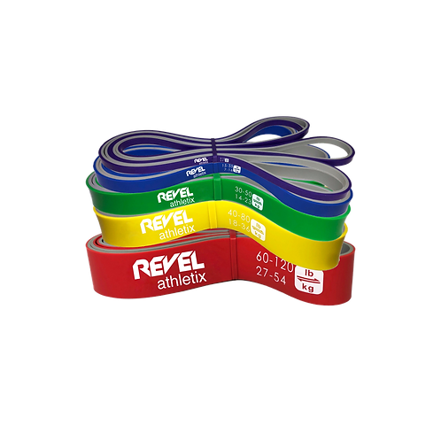 REVEL POWER LOOP BANDS - FULL 5 BAND SET WITH FREE CARRYING BAG
