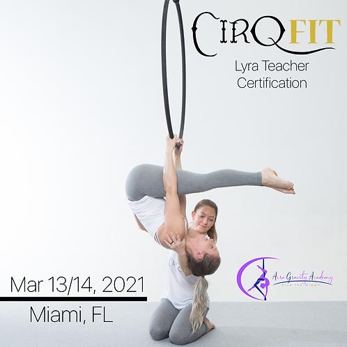 CirqFIT Lyra Teacher Certification: Acro Gravity Academy - Miami, FL