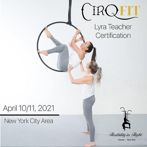 CirqFIT Lyra Teacher Certification: Flexibility in Flight - Chester, NY