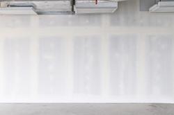 Drywall background during interior renov