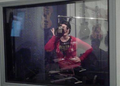 Having fun in the studio!