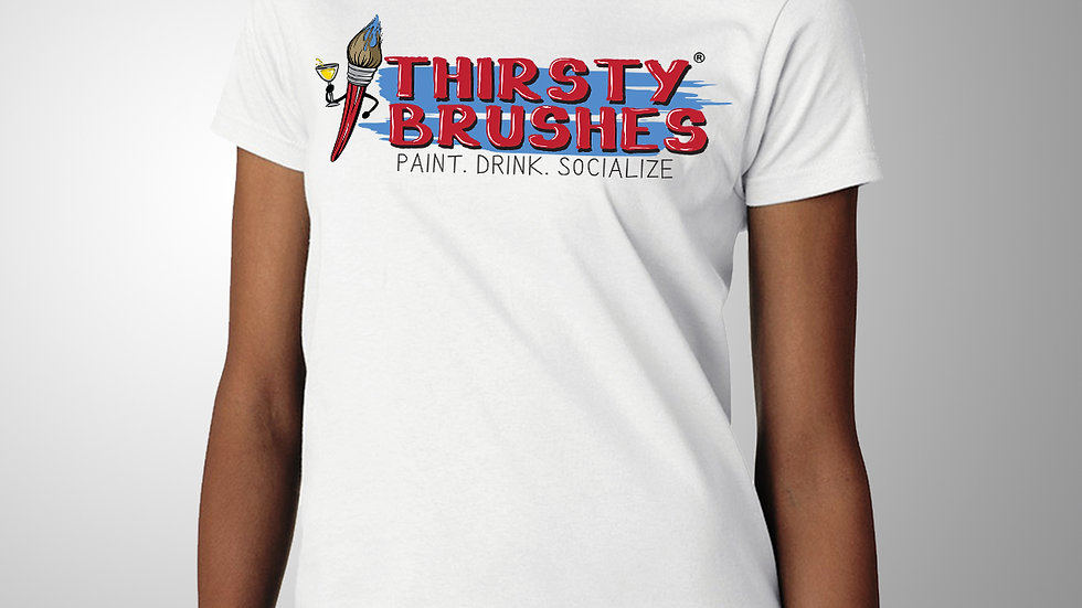 Women's Thirsty Brushes Logo T-Shirt