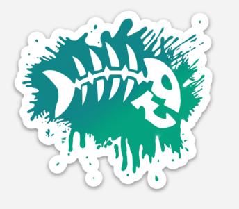 Splatter Bonefish Magnet