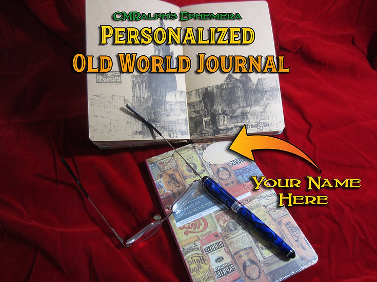 Personalized Old World Journal