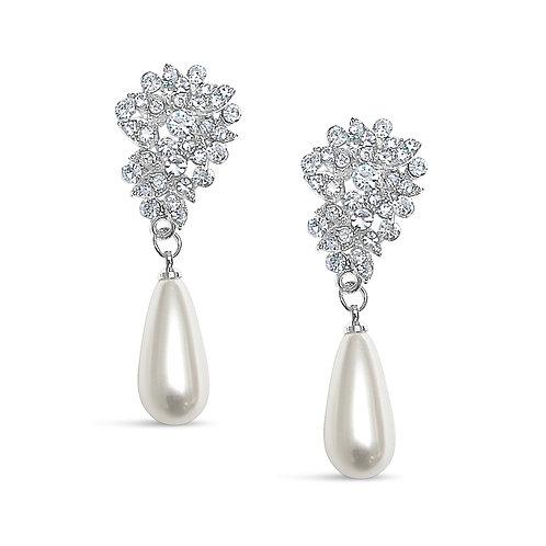 Brianna Starbust Pearl Drop Earrings