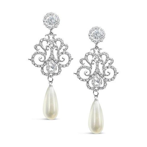 Bella Chandelier Pearl Drop Earrings