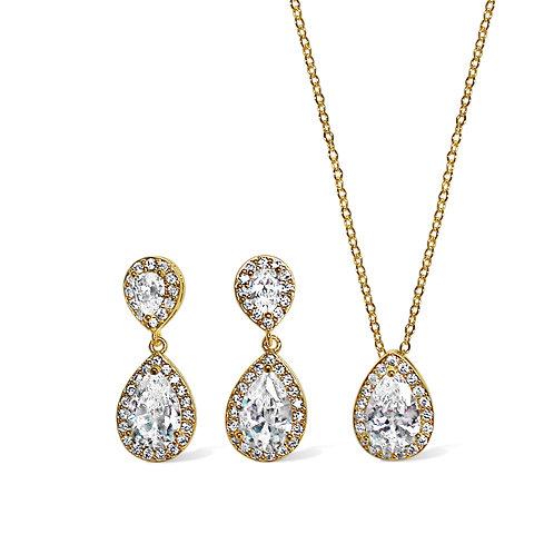 Alison Crystal Encrusted Set (Gold)