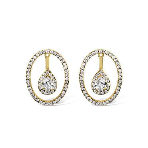 Dara Floating Earrings (Gold)