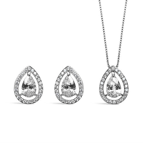 Alice Double Teardrop Jewellery Set
