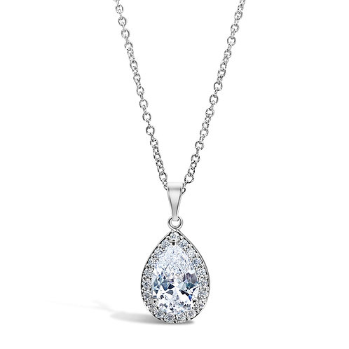 Candice Peardrop Earrings (Silver)