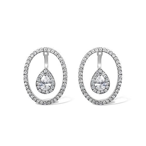 Dara Floating Earrings (Silver)