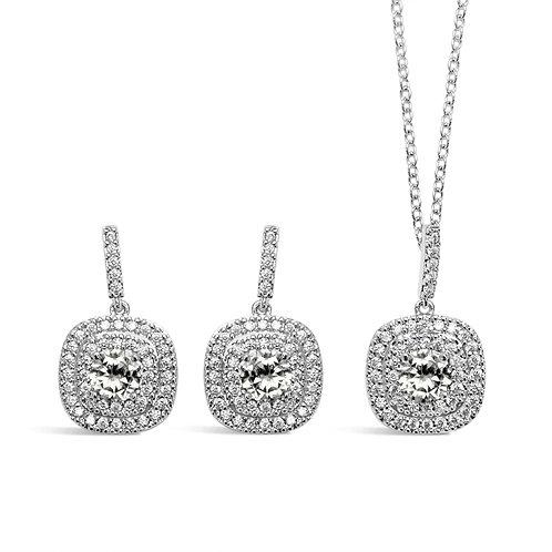 Arla Square Jewellery Set