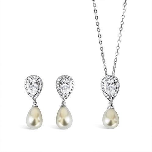 Annie Vintage Pearl Jewellery Set