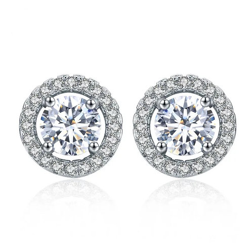 Josephine Round Crystal Earrings