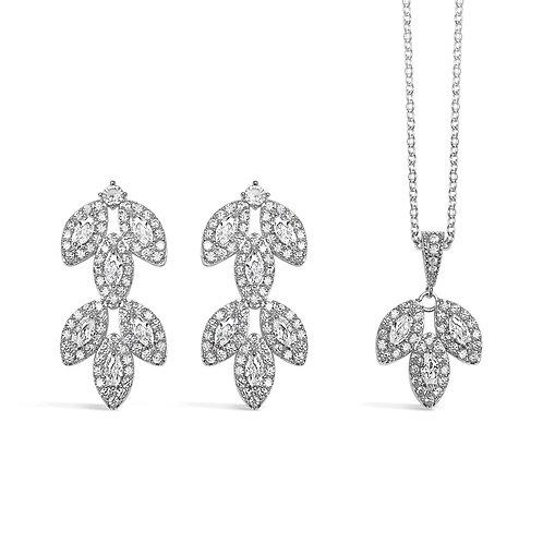 Ava Flower Long Jewellery Set
