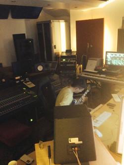 Caosule studio producer bassist Kevin B.