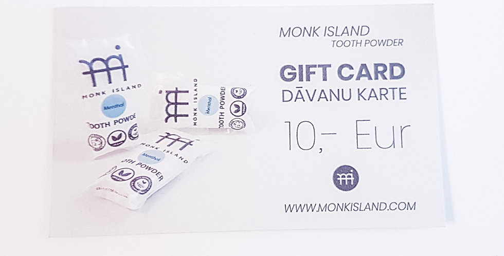 Monk Island gift card 10,- EUR