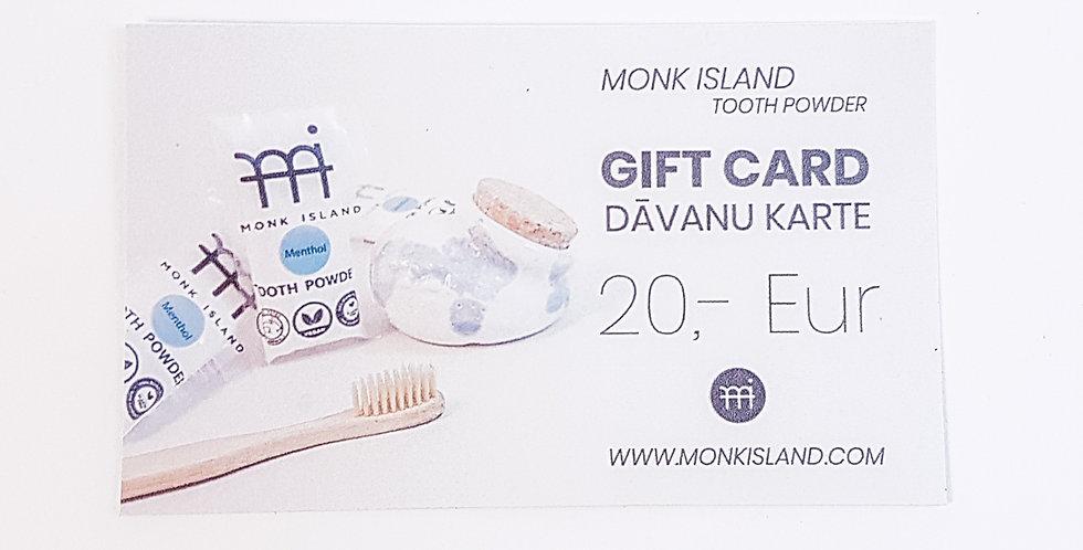 Monk Island dāvanu karte 20,- EUR