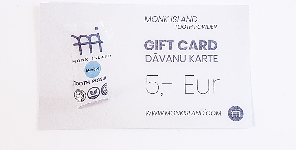 Monk Island gift card 5,- EUR