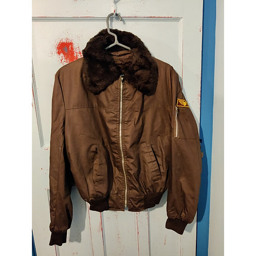 Flight Jacket with Furry Collar - maybe a large