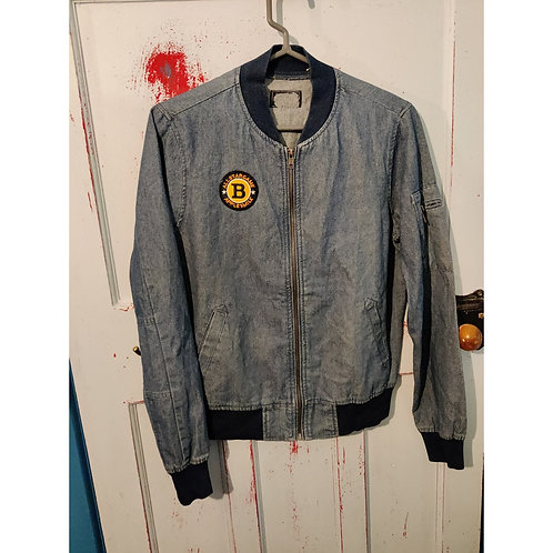 Flight Jacket with Patches-  size  S/M
