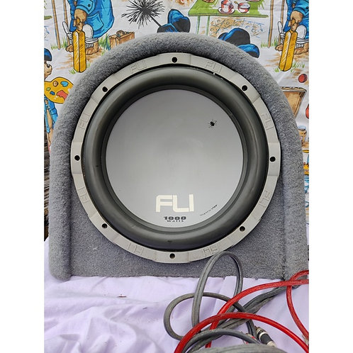 FLI Subwoofer with Built in Amp and leads