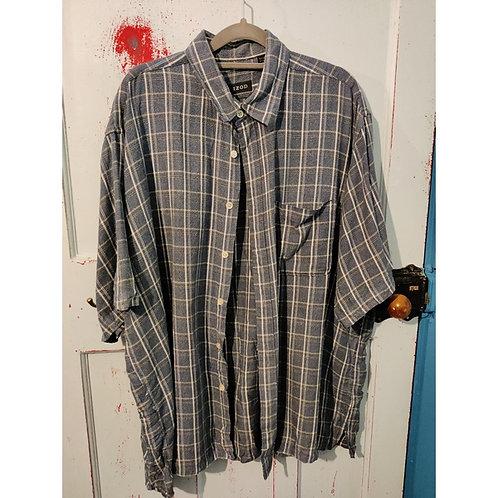 Vintage Check Shirt Men's M short sleeved